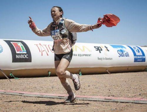 Nathalie Mauclair l'athlète de haut niveau conférencière remporte le 32ème Marathon des sables