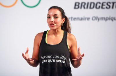 Sarah Ourahmoune conference athlete de haut niveau wechamp JO