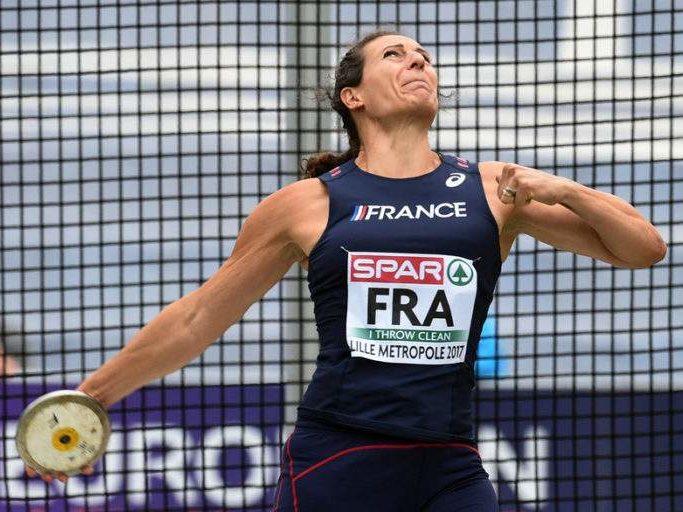 mélina robert michon athlete wechamp entreprise athlétisme lancé de poids conférence