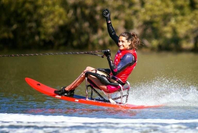 Delphine Le Sausse médaillé aux championnats du monde de ski handisport et conférencier