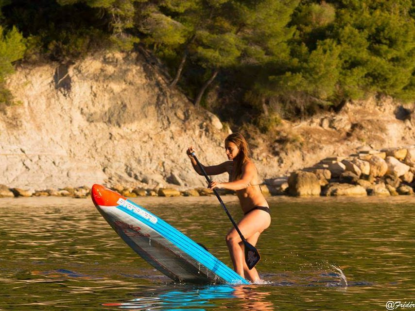 Olivia Piana athlète de haut niveau stand up paddle wechamp-entreprise incentive event public team building