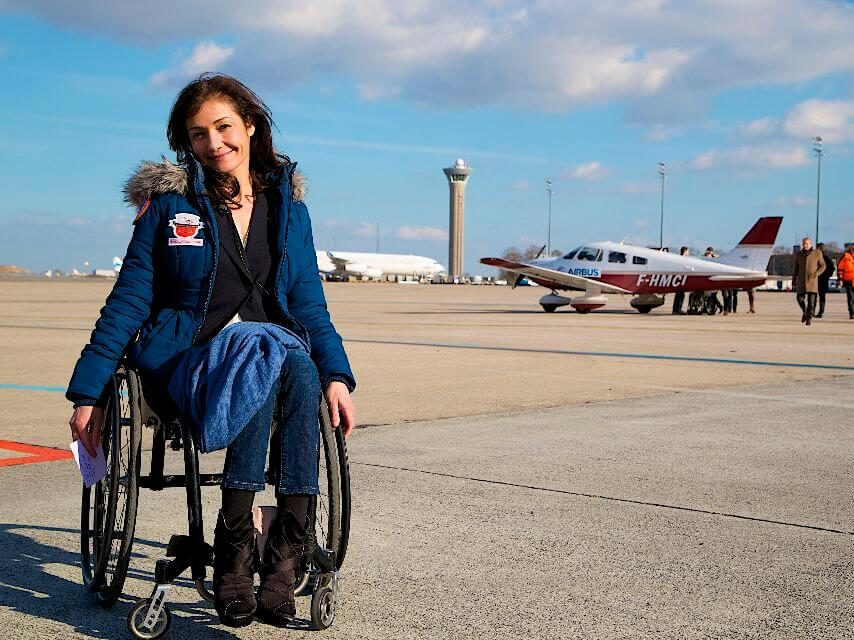 Dorine Bourneton, conférencière sportive dans l'entreprise WeChamp, conférence pour le semaine du handicap