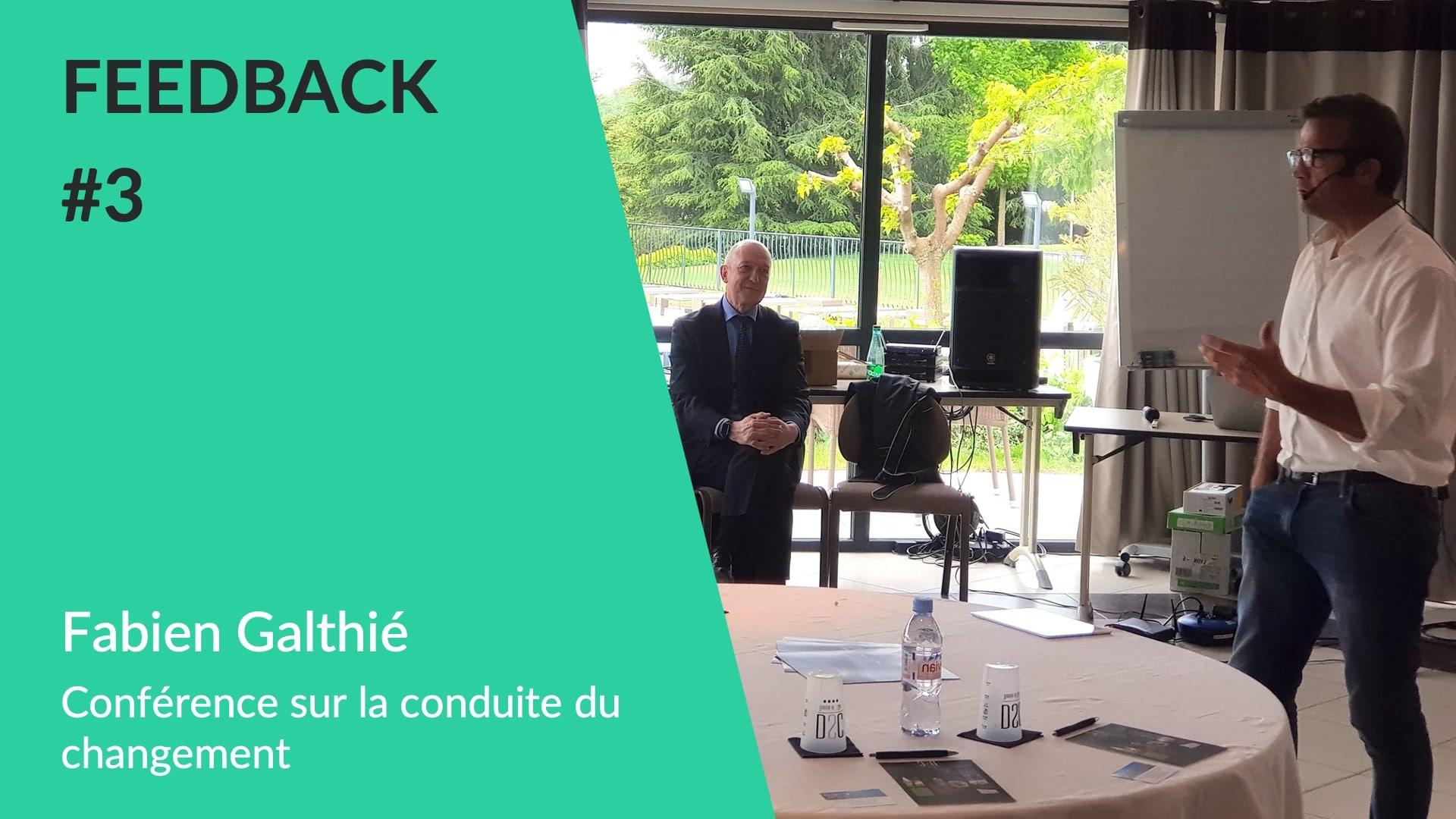 Feedback client WeChamp - Conférence la conduite du changement avec Fabien Galthié pour la Caisse d'Epargne