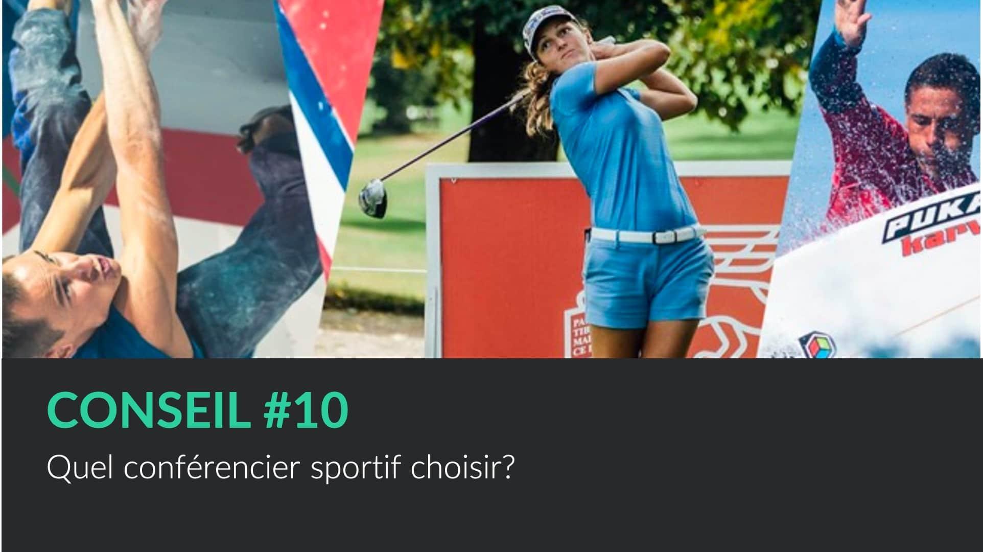 Choisir un conférencier sportif