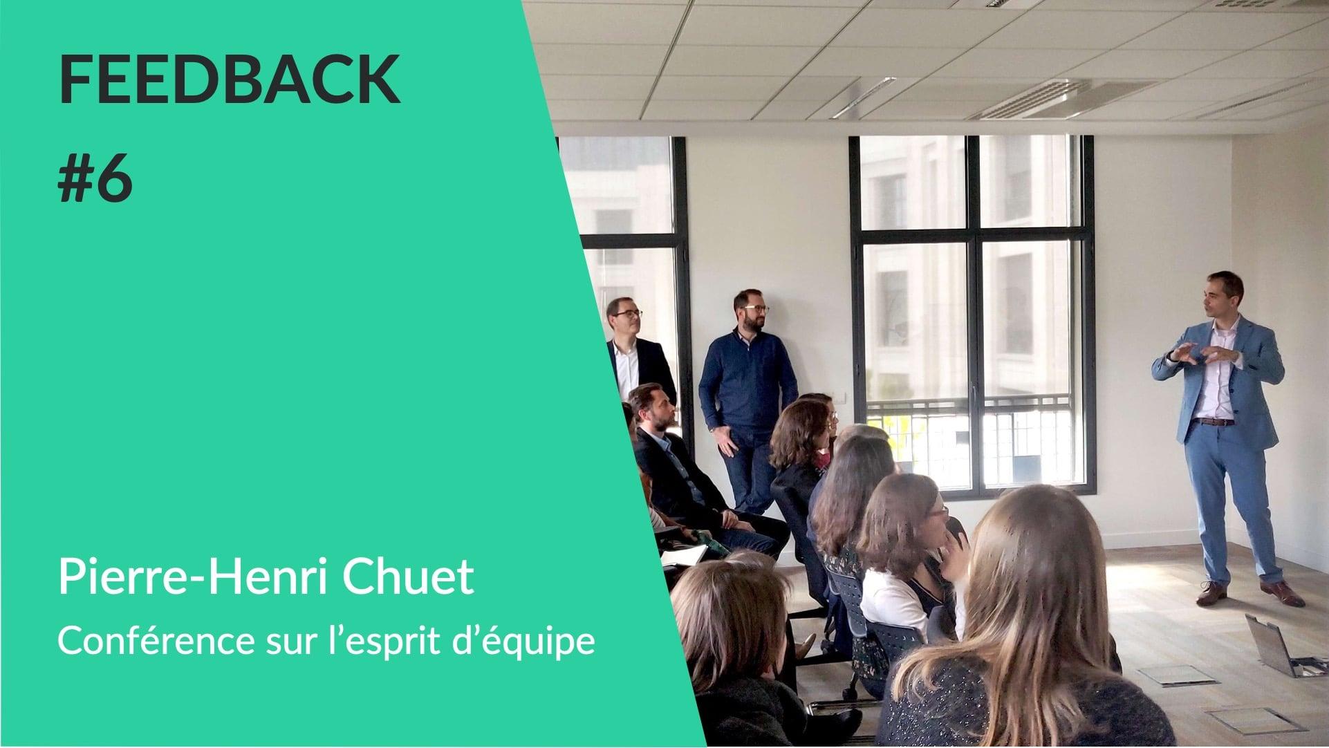 Feedback client WeChamp - Conférence sur l'esprit d'équipe avec Pierre-Henri Chuet