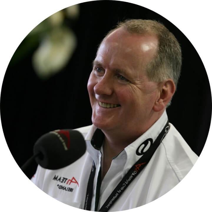 Mark Gallagher Directeur écurie formule 1 et conférencier