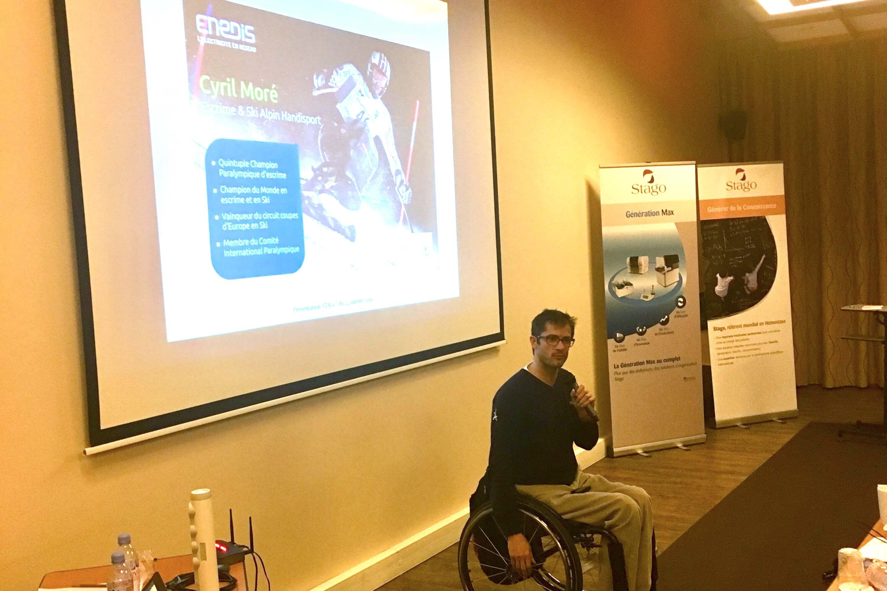 conférence sur le handicap avec cyril moré