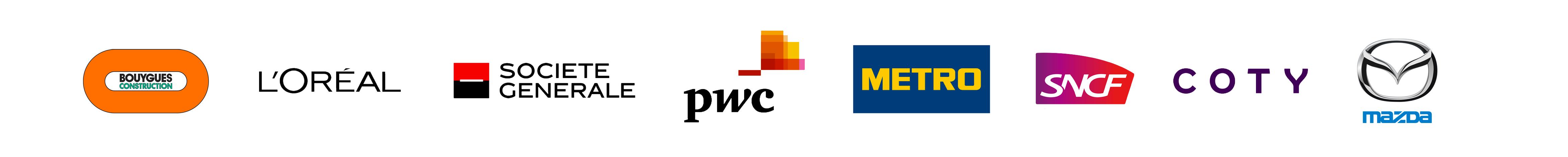 Bannière logos clients WeChamp page d'accueil