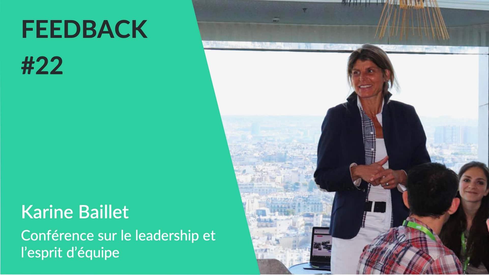 Feedback - Conférence Karine Baillet esprit d'équipe WeChamp