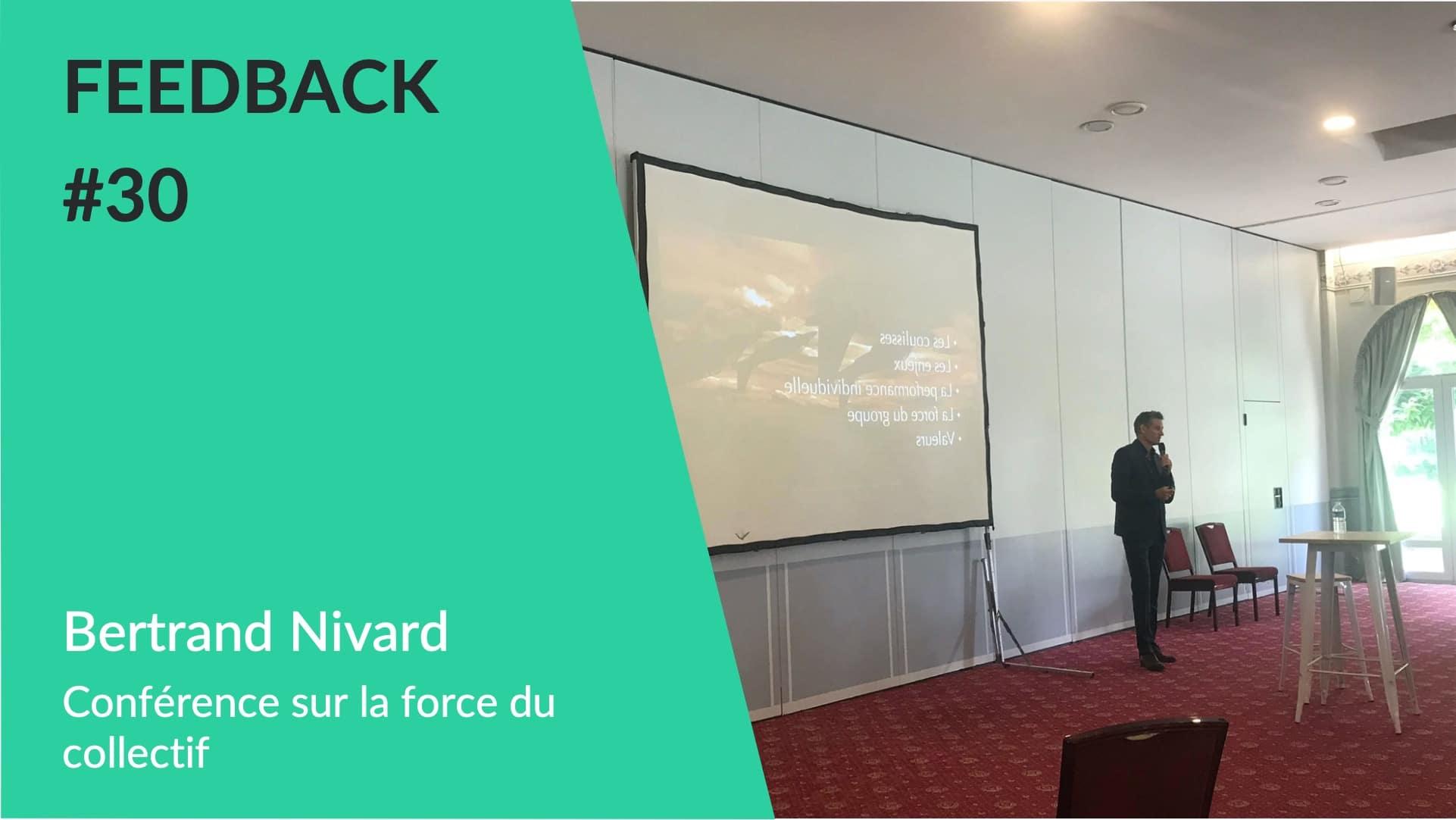 Conférence sur l'esprit d'équipe par Bertrand Nivard ancien leader de la patrouille de France