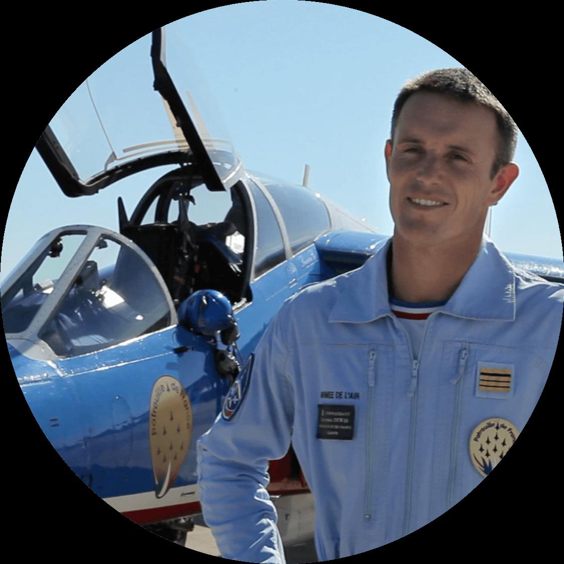 Gauthier Dewas pilote de chasse conférencier WeChamp